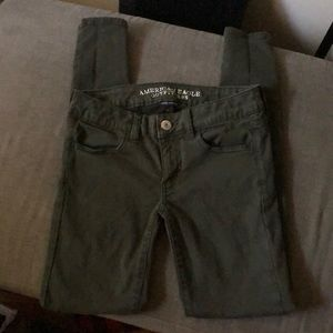 AEO olive green jeggings